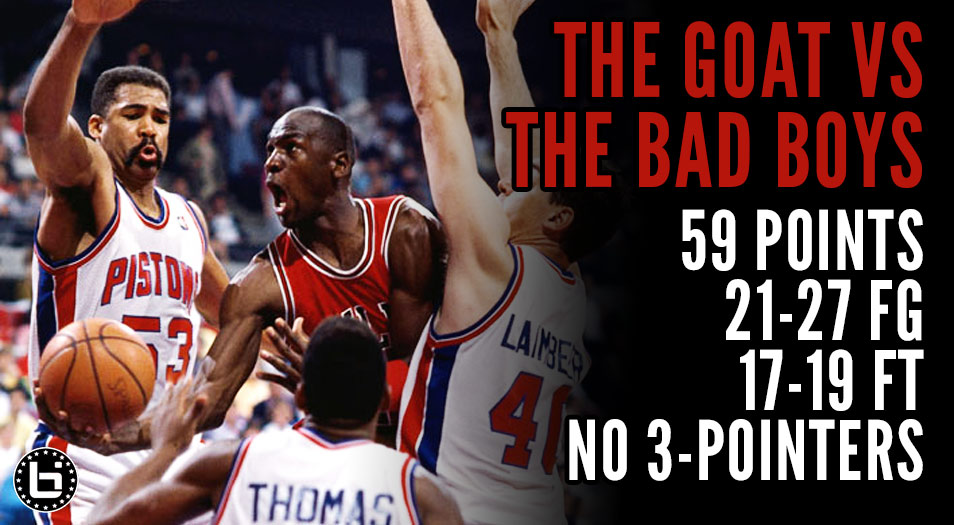 (1988) Michael Jordan scores 59 vs the Bad Boy Pistons | Jordan Rules Is Born