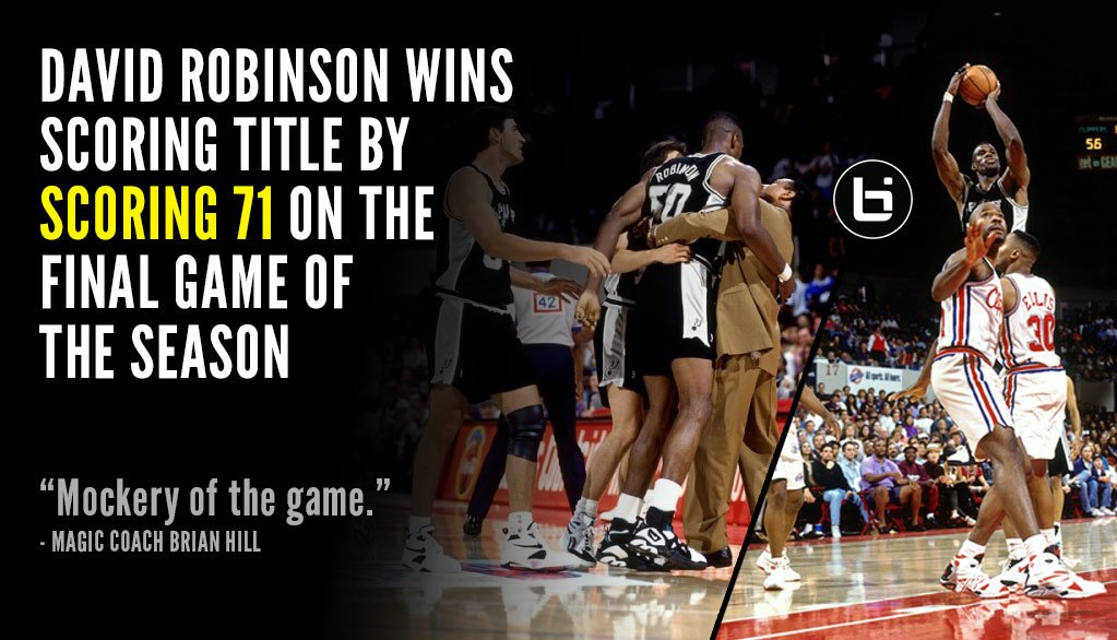 The True Story Behind David Robinson's 71 Points To Win The Scoring Title Over Shaq
