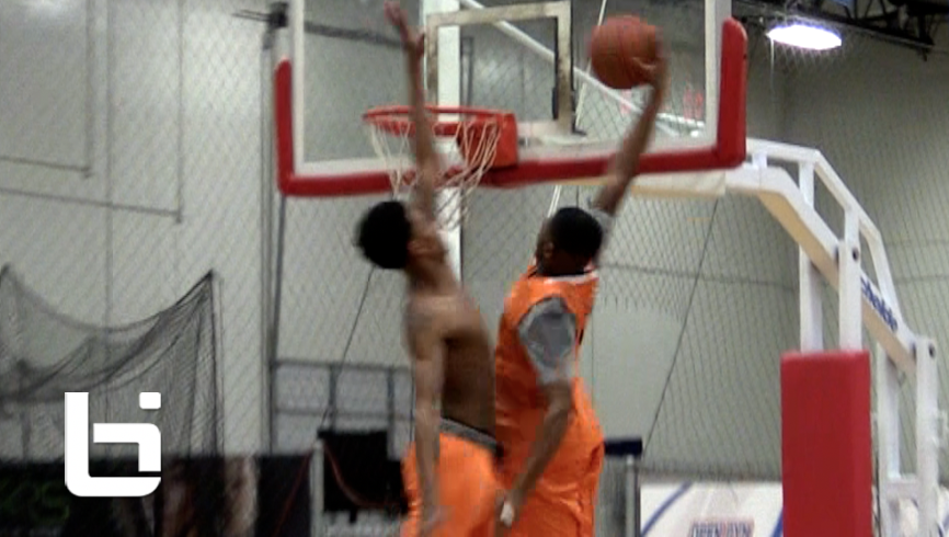 5'11 Paris Austin CATCHES A BODY!!! Solo Clip from Ballislife AA Practice