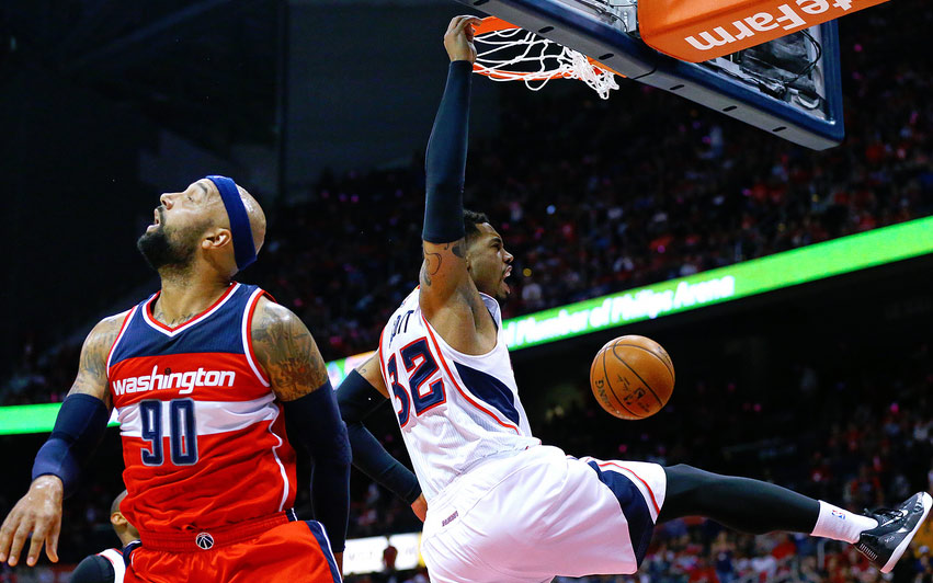 Drew Gooden, With His 10th Team, is Still Getting Dunked On…Twice in GM1 vs Hawks