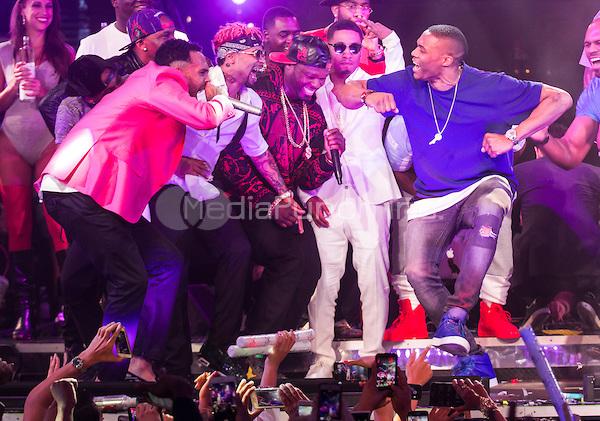 Chris Brown performs at Drai's Nightclub NV