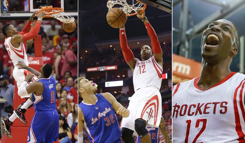 Dwight Howard Dunking All Over the Clippers in GM2 | 24pts/16rebs/4blks