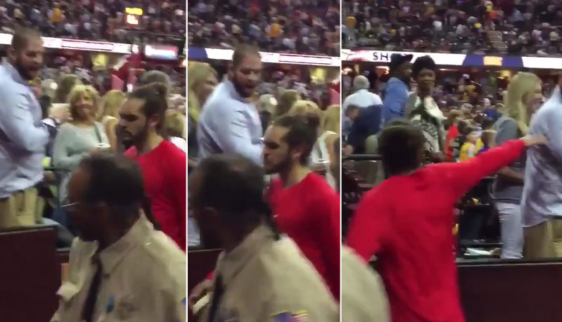 Joakim Noah Pushes Fan Who Allegedly Spit Dip On Him in GM2