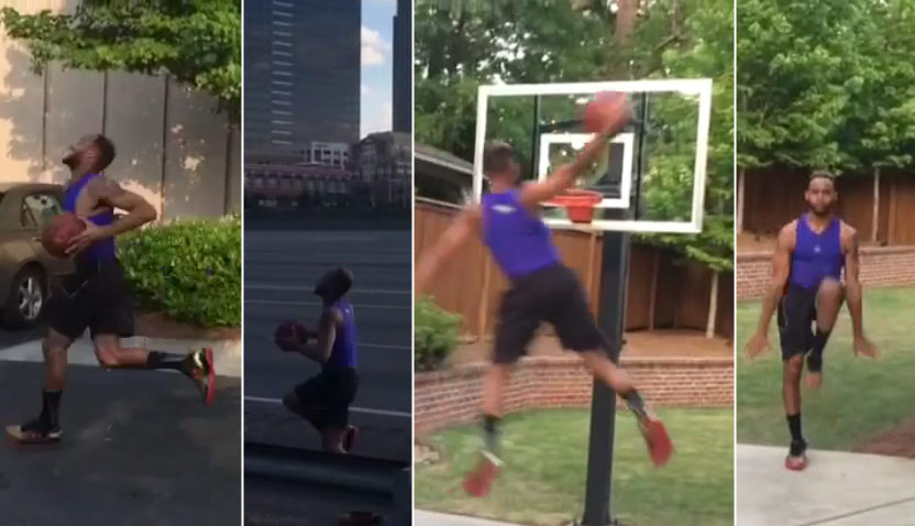 Vine: LeBron Goes Coast to Coast, Dunks & Celebrates