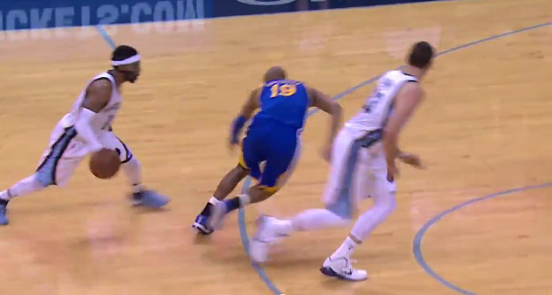 Mike Conley Crossover & 3 on Barbosa