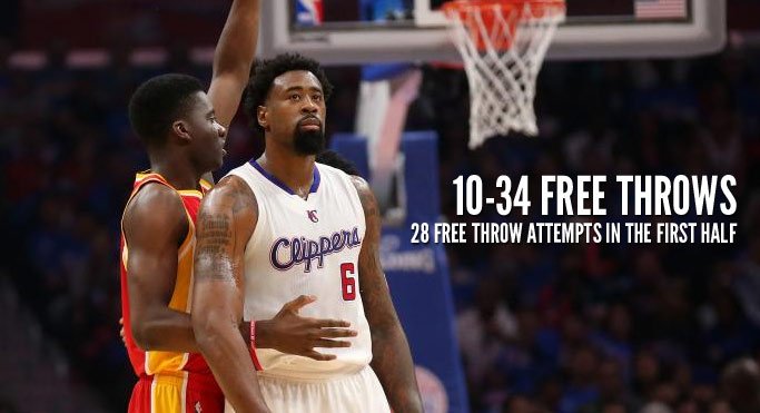 DeAndre Jordan laughs & walks out of postgame conference when asked about 34 free throw attempts in GM4