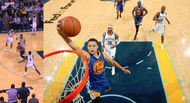 Steph Curry Put On A Show in GM4 & An Annoying Female Grizzlies Fan Wouldn't Shut Up!