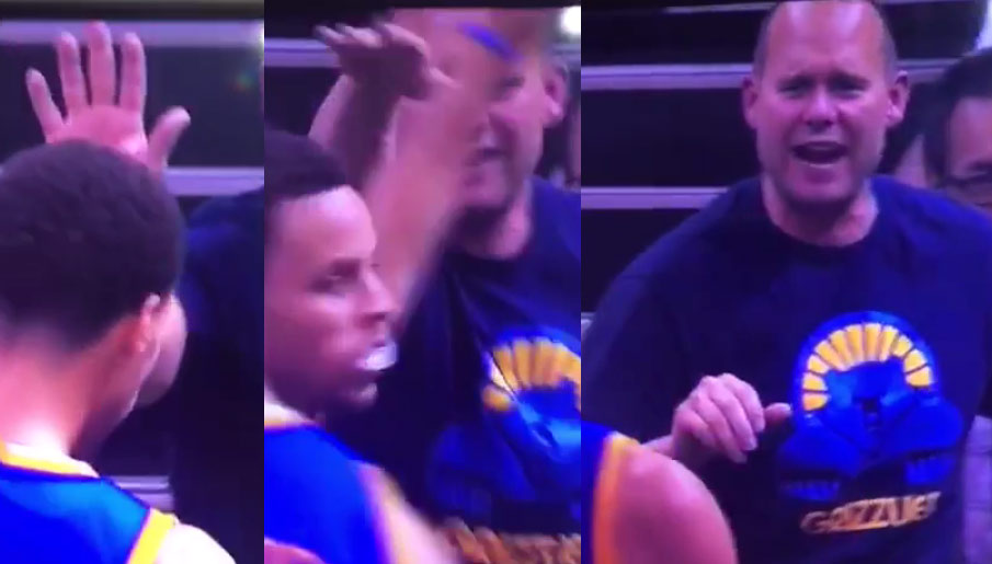 Steph Curry Was So Good In GM4 That A Grizzlies Fan Gave Him A High-Five!