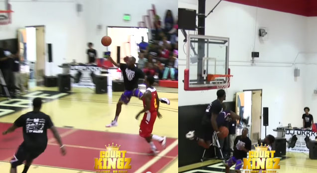 Doug Anderson Between the Legs Alley-Oop Dunk in a Game | CourtKingz vs Baltimore Hawks