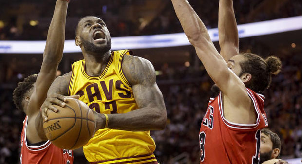 LeBron James had a 7 (?) step travel to go with his 38pts, 12rebs, 6asts, 4stls, 3blks