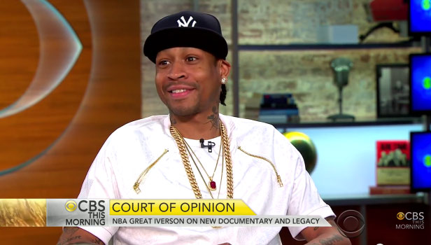 """Allen Iverson says his financial problems are a """"myth"""" on CBS This Morning"""