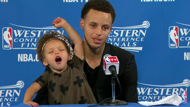 Steph Curry's Mini-Me Takes Over Post-Game Press Conference