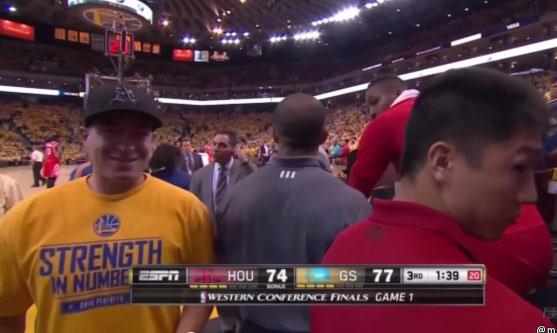 Warriors Fan Curses & Talks Trash To Dwight Howard On Live TV