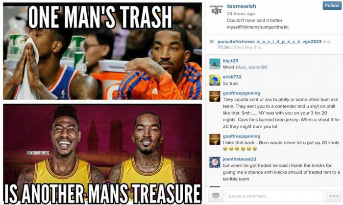 JR-Smith-shuns-New-York-Knicks-on-Instagram