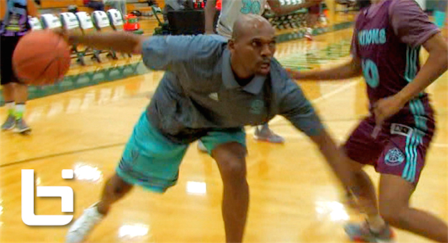 "40Yr Old Jerry Stackhouse 1-on-1 Against HS Players At Adidas Nations! ""Easy Work"""