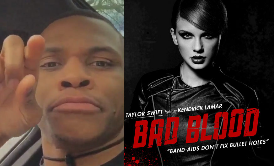 Taylor Swift's Response To Russell Westbrook singing her song 'Bad Blood', Jimmy Butler is going to be jealous!