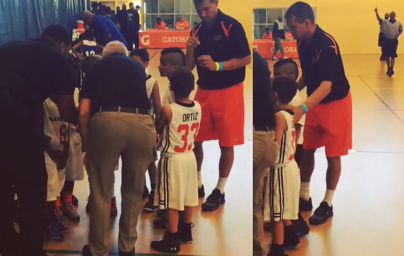 Father Uses Sign Language to Communicate With His Deaf Son During A Basketball Timeout