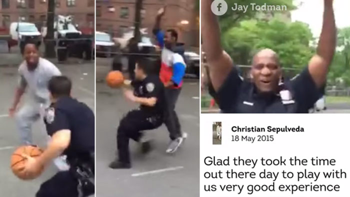 NYPD Police Officers Caught Beating Kids….At Basketball!