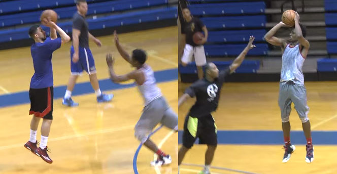 Austin Rivers Plays Against Future Stars Antonio Blakeney & Corey Sanders in Pick-Up Game