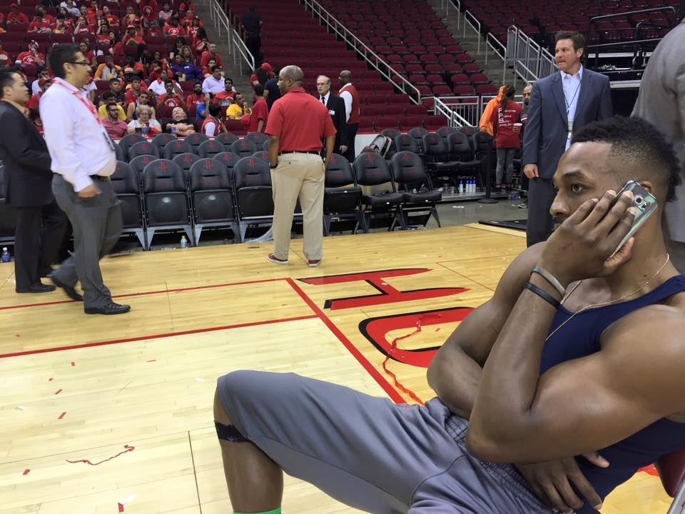 Dwight Howard & 200 Rockets Fans Stranded at Arena Until 6 am Due to Rain/Floods