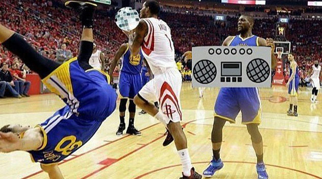 Steph Curry Falls Down In GM4 Memes