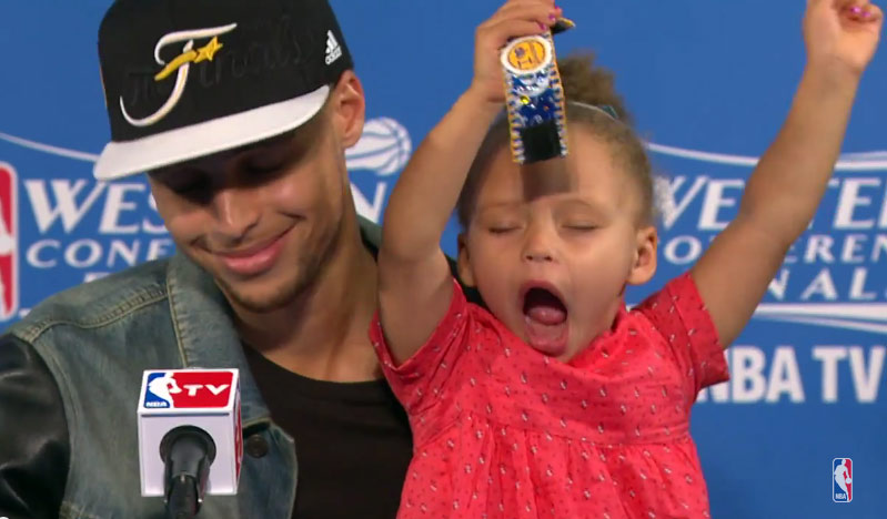 Riley Curry Strikes Back: Steph's Mini-Me Takes Over GM5 Postgame Conference