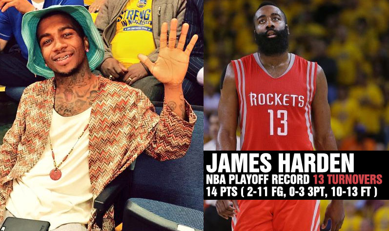 Lil B's Curse Was For Real, James Harden Had The Worst Game of His Career in GM5
