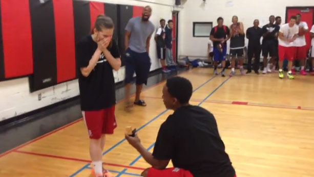 "Love & Basketball 2015: Alex ""Superman"" Johnson Fakes Injury To Pull Off The Best Basketball Proposal Ever"