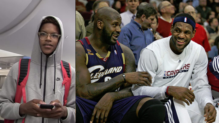 Shaq's 16yo son talks about beating his Dad 1-on-1 & being ready for LeBron!
