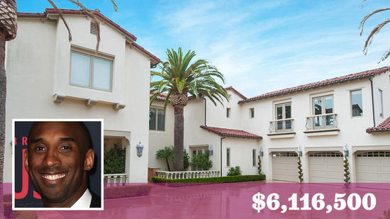 Kobe Bryant Sells His Newport Coast Home For a Record $6.1 million
