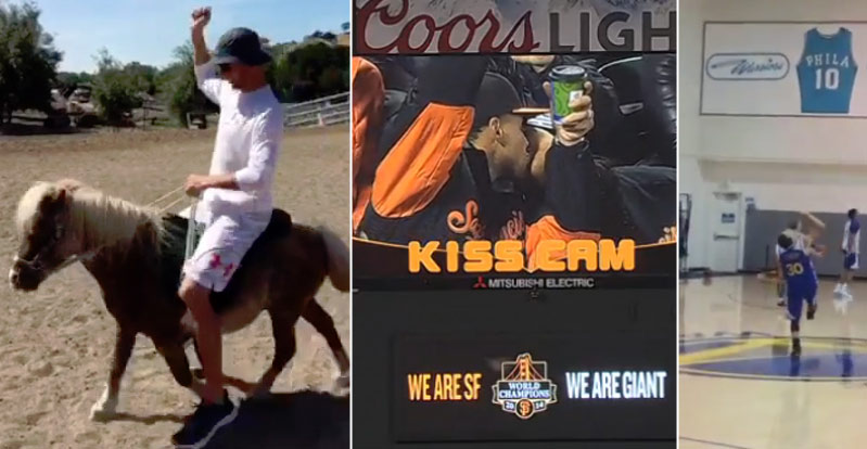 Ponies, KissCams & Trick Shots: How Desperate Are We For Steph Curry News?