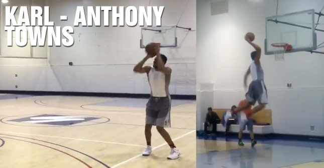 Karl-Anthony Towns Shows Off His Handles & Range During Impressive Workout