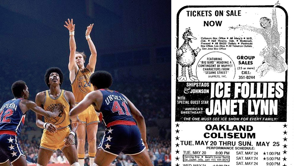 The 1975 Championship Golden State Warriors Were Bumped By Big Bird's Ice Show During the NBA Finals