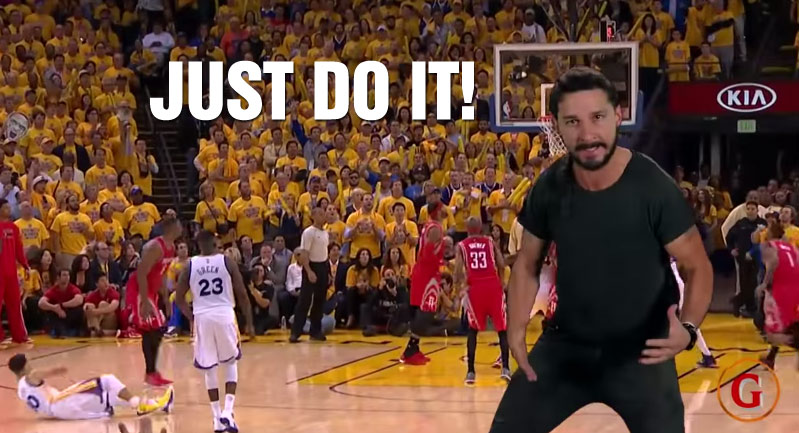 Shia LaBeouf Starring In The Most Bizarre and Somewhat Motivating NBA Finals Preview Ever