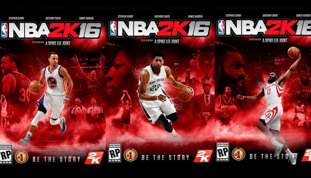 Steph Curry, Harden & Anthony Davis Grace Covers for NBA2k16 – A Spike Lee Joint
