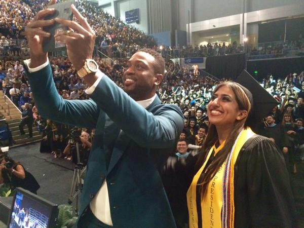Dwyane Wade Surprises Students at High School Graduation