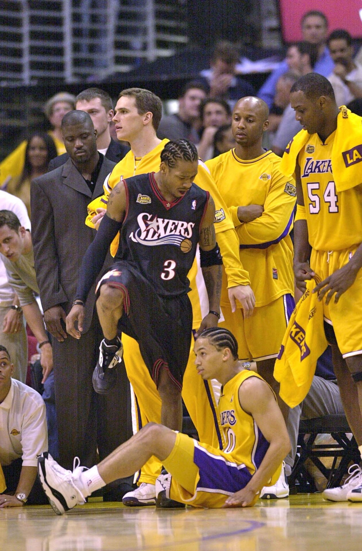 Allen Iverson Talks About Stepping Over Tyronn Lue In The 2001 NBA ... d49ce2773