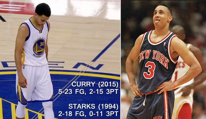 Steph Curry Breaks John Starks' 21 Year Old Record For Missed 3s in a Finals Game
