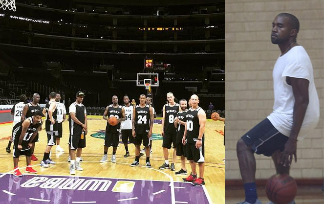Kim Kardashian Rents Out Staples Center so Kanye Could Play Basketball With a Bunch of NBA Players & Friends on His Birthday