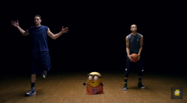 Steph Curry, Klay Thompson, Zig Zag & a Minion Recreate Famous Nike Freestyle Commercial