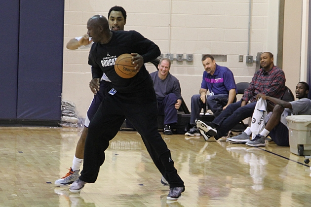 """Michael Jordan says he could beat some Hornets Players 1-on-1 but doesn't want to """"demolish their confidence"""""""