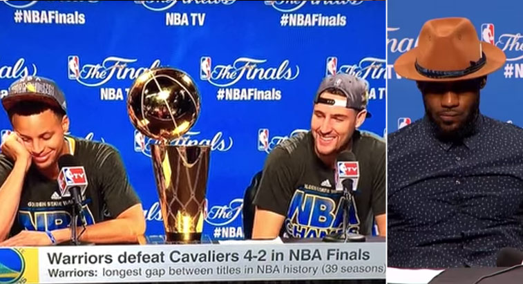 """Klay Thompson trolls LeBron by saying Steph Curry is """"the best player in the world"""""""