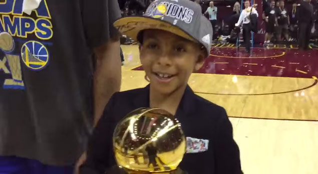 """Andre Iguodala's Son Said His Dad Was """"Ballin"""" & """"Getting Buckets All Day"""""""