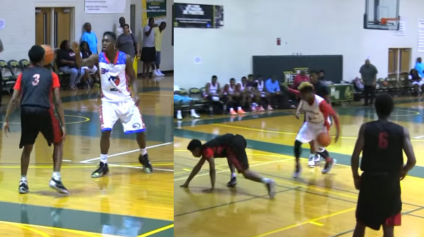 HS Teammates Take Turns Embarrassing a Defender, off the face bounce followed by an ankle breaker