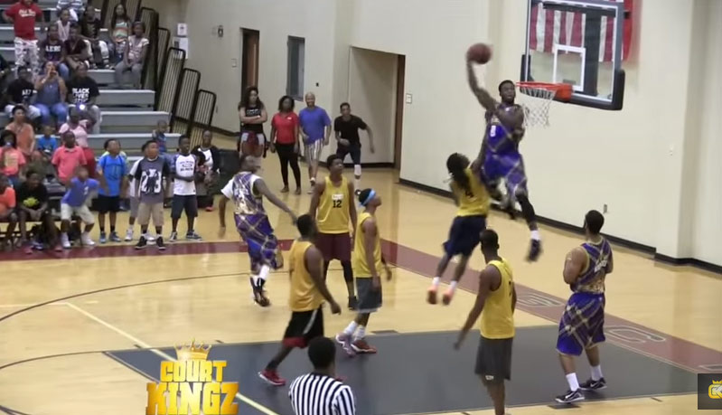 Doug Anderson Crazy Dunks vs Team Alabama, Shatters backboard on Between the Legs Attempt