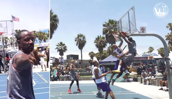 Grandpa Dew Throws Down An Alley-Oop Poster Dunk at VBL (Week 2)