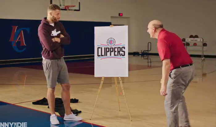 Steve Ballmer & Blake Griffin Reveal The New Clippers Logo in Funny or Die Video | History of the Clippers' Logo