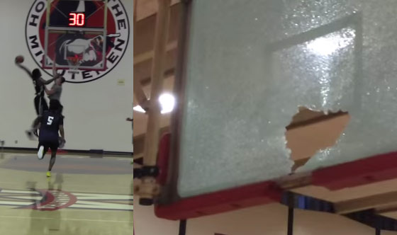 5-Star Power Forward Cody Riley Tears The Rim Off the Backboard On A Poster Dunk Attempt