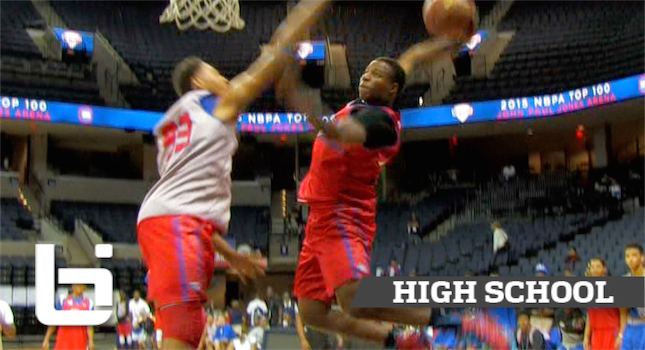 Mark Vital SHUTS DOWN The GYM After CRAZY DUNK at NBA TOP100 Camp!