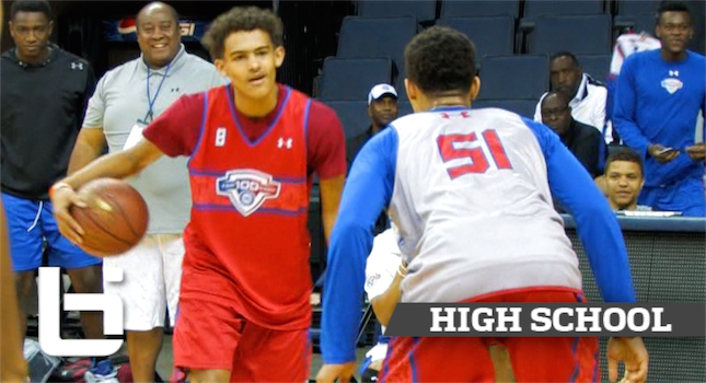 Trae Young vs Gary Trent Jr.Rucker Park Style at NBA Top100 Camp!